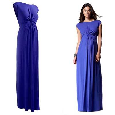 vestido de gestante longo 2 - Vestido de GESTANTE LONGO modelitos e dicas de uso