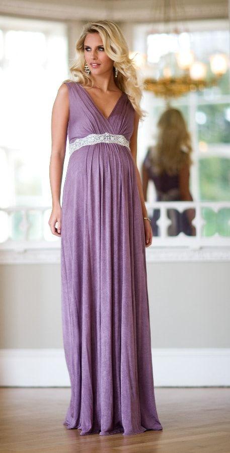 vestido de gestante longo 4 - Vestido de GESTANTE LONGO modelitos e dicas de uso