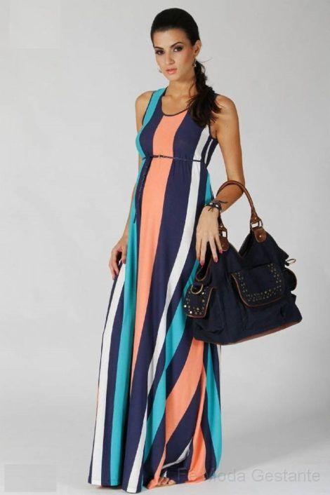 vestido de gestante longo 5 470x706 - Vestido de GESTANTE LONGO modelitos e dicas de uso