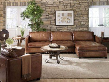 imagem 13 - SOFÁ DE COURO para sala de estar, veja