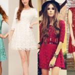 vestido curto de renda 2014 4