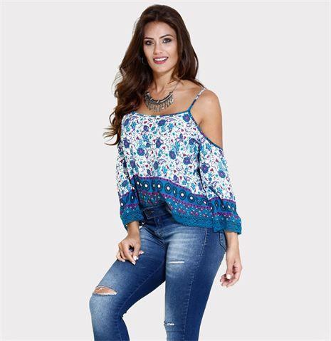 imagem 10 - Modelos de Blusa CIGANINHA com calça, shorts, saia