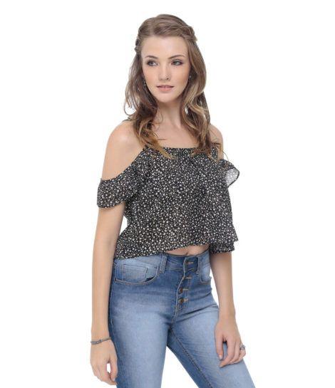 imagem 13 470x545 - Modelos de Blusa CIGANINHA com calça, shorts, saia