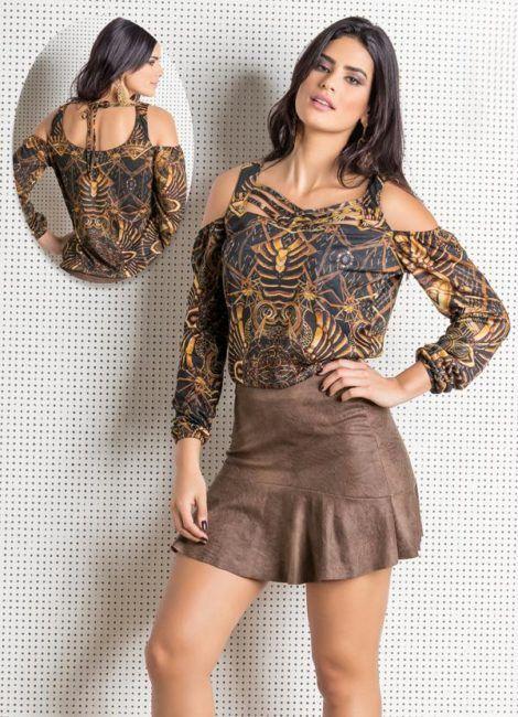 imagem 14 470x650 - Modelos de Blusa CIGANINHA com calça, shorts, saia
