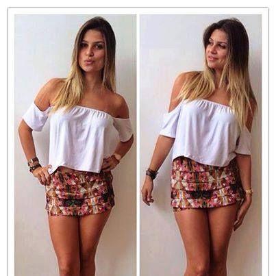 imagem 27 - Modelos de Blusa CIGANINHA com calça, shorts, saia