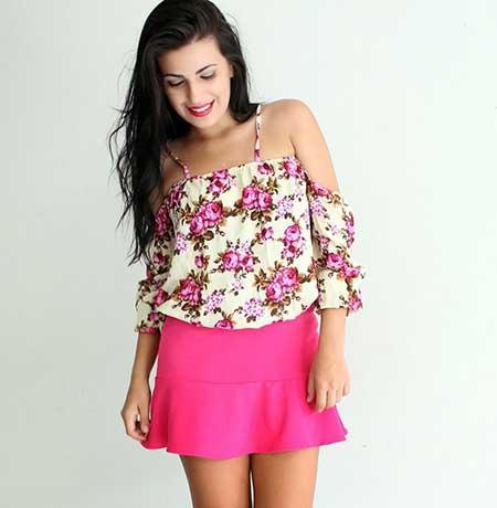 modelos de blusa ciganinha 1 - Modelos de Blusa CIGANINHA com calça, shorts, saia