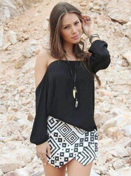 modelos de blusa ciganinha 4 - Modelos de Blusa CIGANINHA com calça, shorts, saia