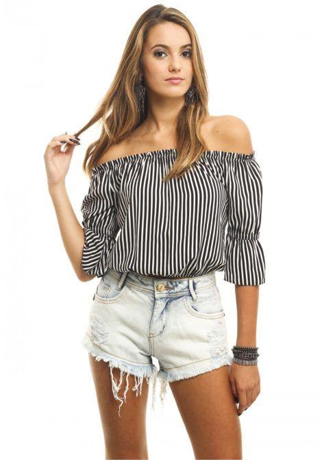 modelos de blusa ciganinha 7 470x671 - Modelos de Blusa CIGANINHA com calça, shorts, saia