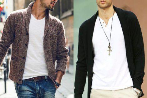 como usar cardigan masculino 2 470x313 - Blusas de frio masculinas, muitas cores e modelos