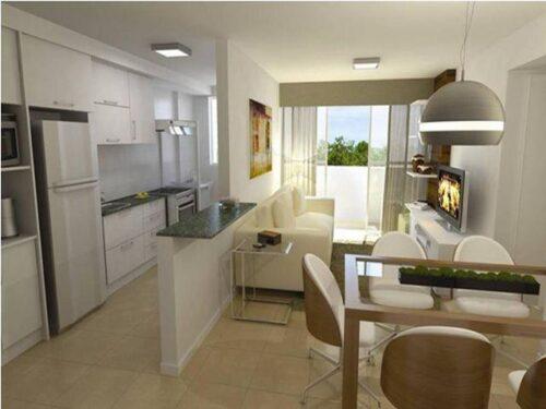 cozinhas para apartamento pequeno 500x375 - A mais belas cozinhas para apartamento pequeno, tudo com móveis planejados