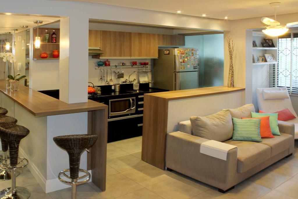 A mais belas cozinhas para apartamento pequeno tudo com m veis planejados s detalhe for Living pequenos