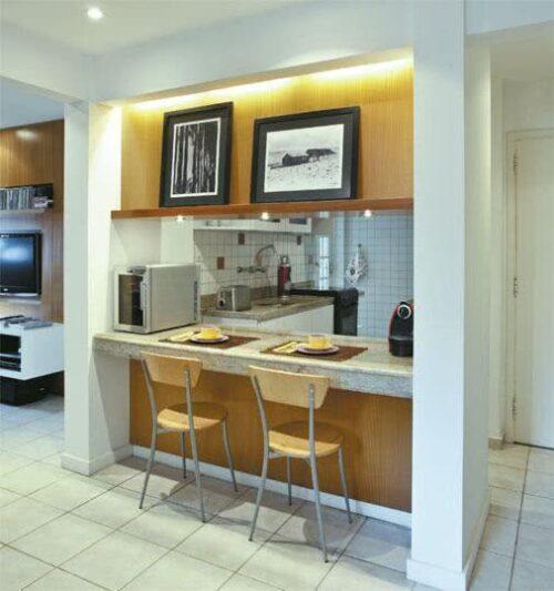 dicas de cozinhas para apartamento pequeno 500x533 - A mais belas cozinhas para apartamento pequeno, tudo com móveis planejados