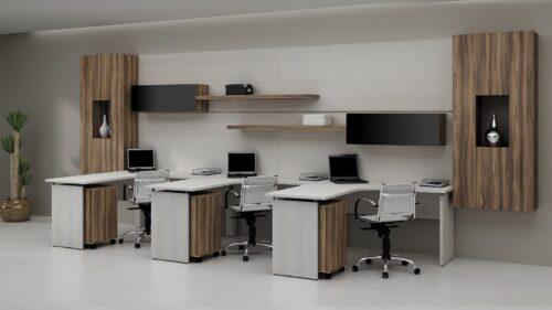 dicas de mesas de escritório planejadas 500x281 - Mesas de escritório planejadas para ambientes diversos