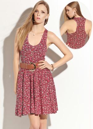 imagem 10 - Belos vestidos com ESTAMPA DE FLORES super lindos