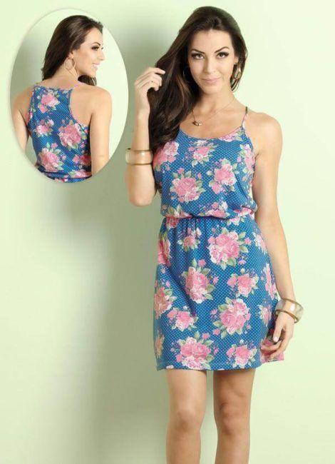 imagem 11 470x650 - Belos vestidos com ESTAMPA DE FLORES super lindos