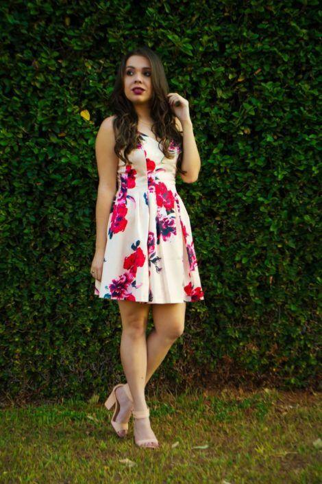 imagem 12 470x705 - Belos vestidos com ESTAMPA DE FLORES super lindos