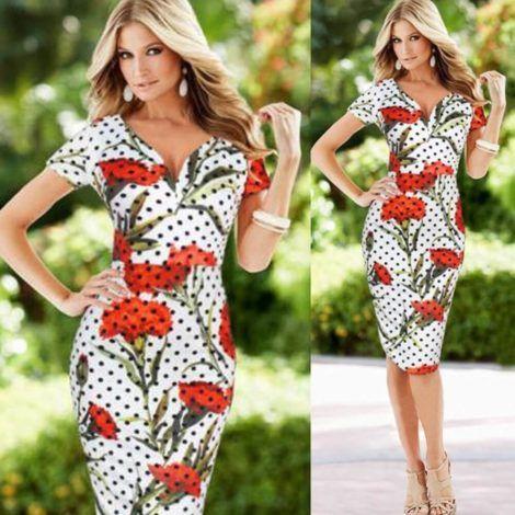imagem 13 470x470 - Belos vestidos com ESTAMPA DE FLORES super lindos