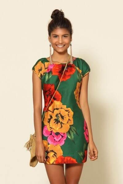 imagem 18 1 - Belos vestidos com ESTAMPA DE FLORES super lindos