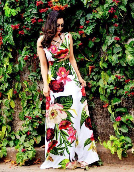 imagem 23 470x600 - Belos vestidos com ESTAMPA DE FLORES super lindos