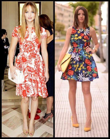 imagem 9 - Belos vestidos com ESTAMPA DE FLORES super lindos