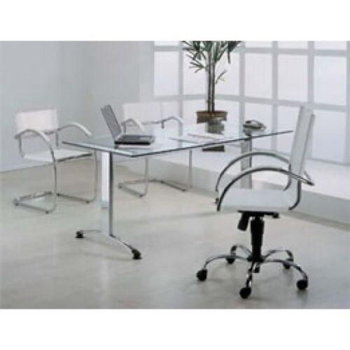 mesas de escritório de vidro modernas 500x500 - Dicas para montar o local de trabalho com mesas de escritório de vidro