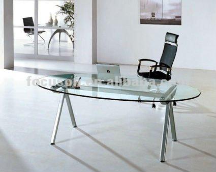 mesas de escritório de vidro oval - Dicas para montar o local de trabalho com mesas de escritório de vidro