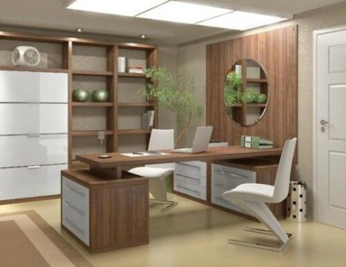 mesas de escritório planejadas 500x386 - Mesas de escritório planejadas para ambientes diversos