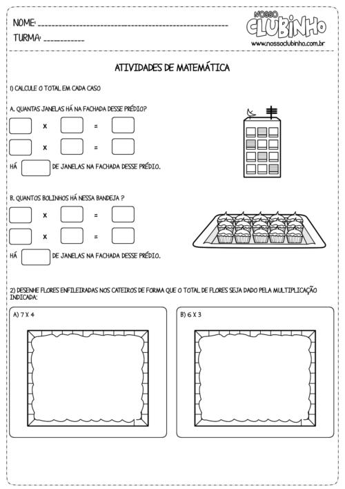 modelos de atividades de matematica de multiplicação 500x708 - Atividades de Matemática de multiplicação para aprendizagem