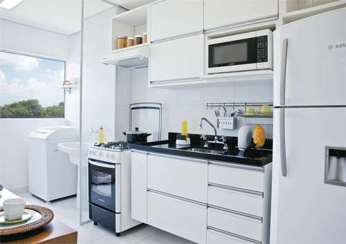 modelos de cozinhas para apartamento pequeno 500x353 - A mais belas cozinhas para apartamento pequeno, tudo com móveis planejados