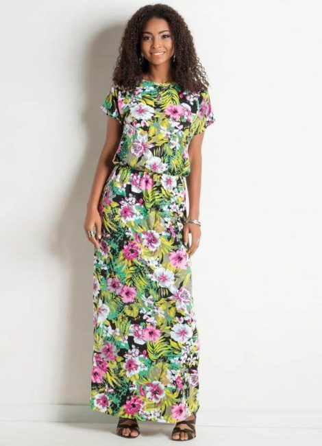 vestidos com estampa de flores 1 470x650 - Belos vestidos com ESTAMPA DE FLORES super lindos