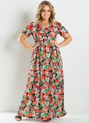 vestidos com estampa de flores 10 - Belos vestidos com ESTAMPA DE FLORES super lindos