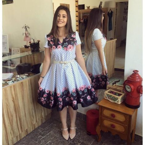 vestidos com estampa de flores 3 470x470 - Belos vestidos com ESTAMPA DE FLORES super lindos