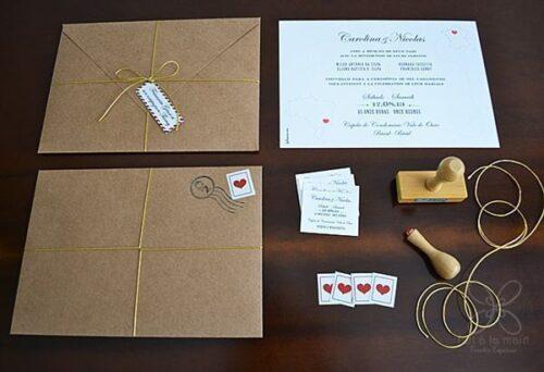 como fazer convites de casamento feitos a mão 500x342 - Modelos de Convites de casamento feitos a mão