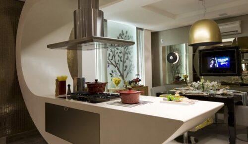 cozinha americana 500x292 - Modelos de cozinha americana que cabem no seu bolso