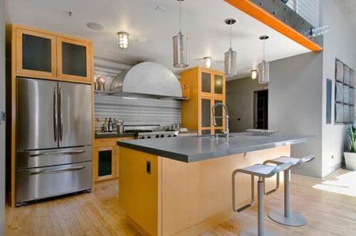 cozinha americana modernas 500x332 - Modelos de cozinha americana que cabem no seu bolso