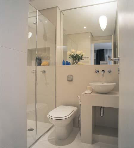 decoração de banheiros pequenos com porcelanato - Banheiros pequenos com porcelanato dicas de construção e decoração