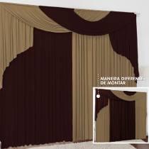 fotos de cortina acetinada para sala - Decore janelas e portas com Cortina acetinada para sala