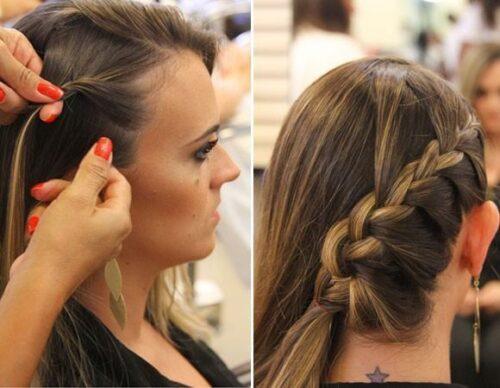 fotos de penteados com tranças laterais 500x388 - Lindos Penteados com tranças laterais, aprenda fazer pois sempre caem bem
