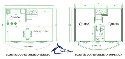 fotos de plantas de sobrados até 70 m² 500x238 - Plantas de sobrados até 70 m² para imprimir