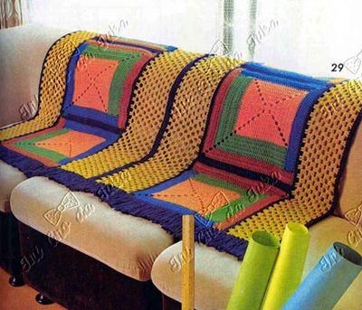 imagem 10 - MANTA de crochê para sofá decorativas