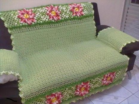 imagem 11 - MANTA de crochê para sofá decorativas