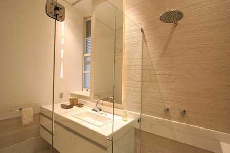 imagens de banheiros pequenos com porcelanato - Banheiros pequenos com porcelanato dicas de construção e decoração