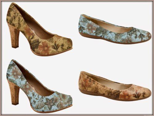 imagens de calçados com estampas florais 500x377 - Calçados com estampas florais lindos modelos com salto