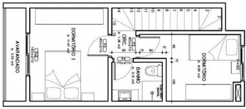 imagens de plantas de sobrados até 70 m² 500x221 - Plantas de sobrados até 70 m² para imprimir