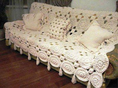 manta de croche para sofa 6 - MANTA de crochê para sofá decorativas