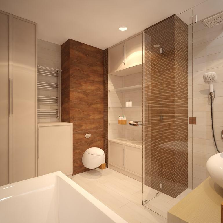 Banheiros pequenos com porcelanato dicas de constru o e - Piso pequeno moderno ...