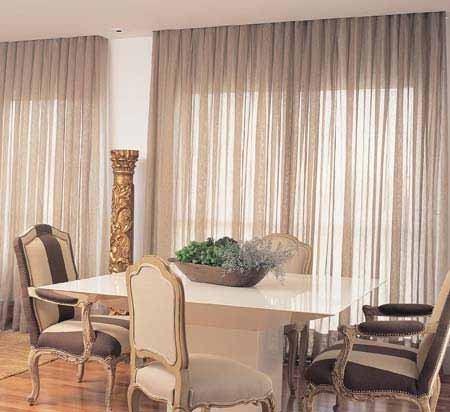 Modelos de cortinas de tecido para sala monte o enxoval for Modelos de cortinas