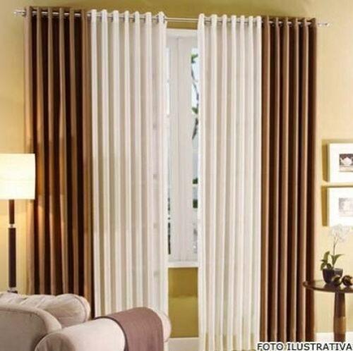 modernas cortina acetinada para sala 500x498 - Decore janelas e portas com Cortina acetinada para sala