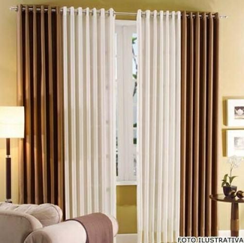 Decore janelas e portas com cortina acetinada para sala for Cortinas de visillo para sala
