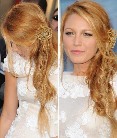 penteados com tranças laterais dicas 500x588 - Lindos Penteados com tranças laterais, aprenda fazer pois sempre caem bem